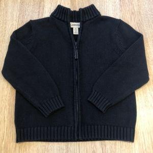 Lands End zip up sweater cardigan